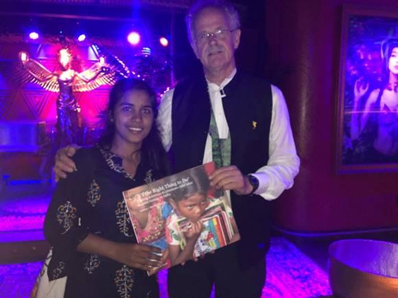 Youth activist Payal Jangid upon receiving the UN Changemaker Award.