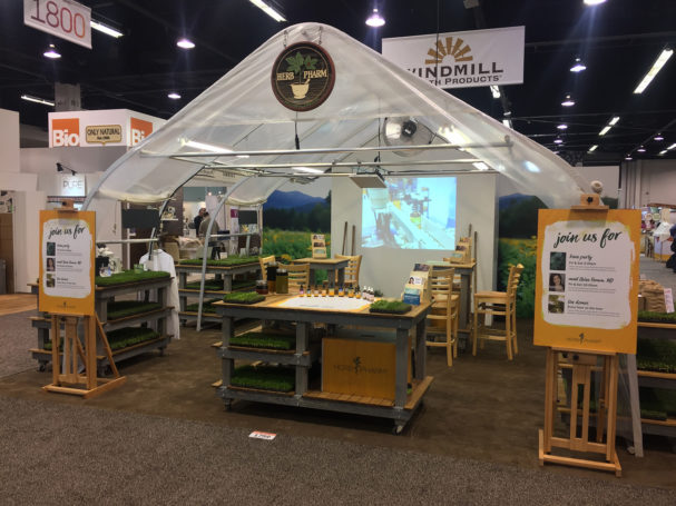 Herb Pharm 2017 Expo West booth