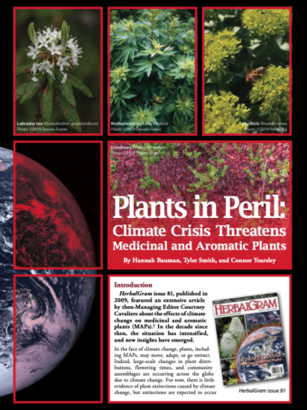 Climate Change impacts on Medicinal Plants
