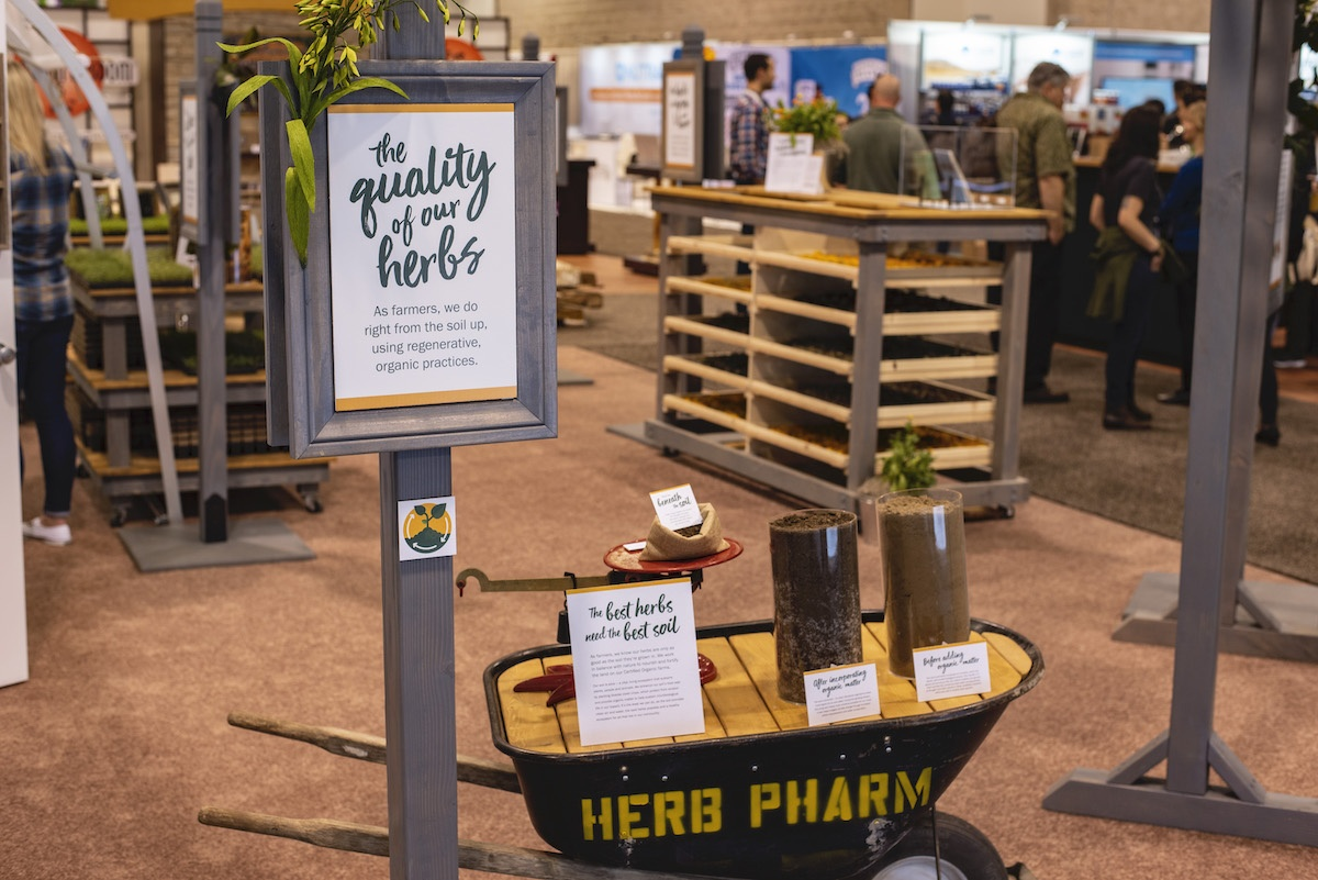 The final post discussing Herb Pharm's process of planning a low waste trade show booth at Expo West 2020, which was cancelled due to COVID-19