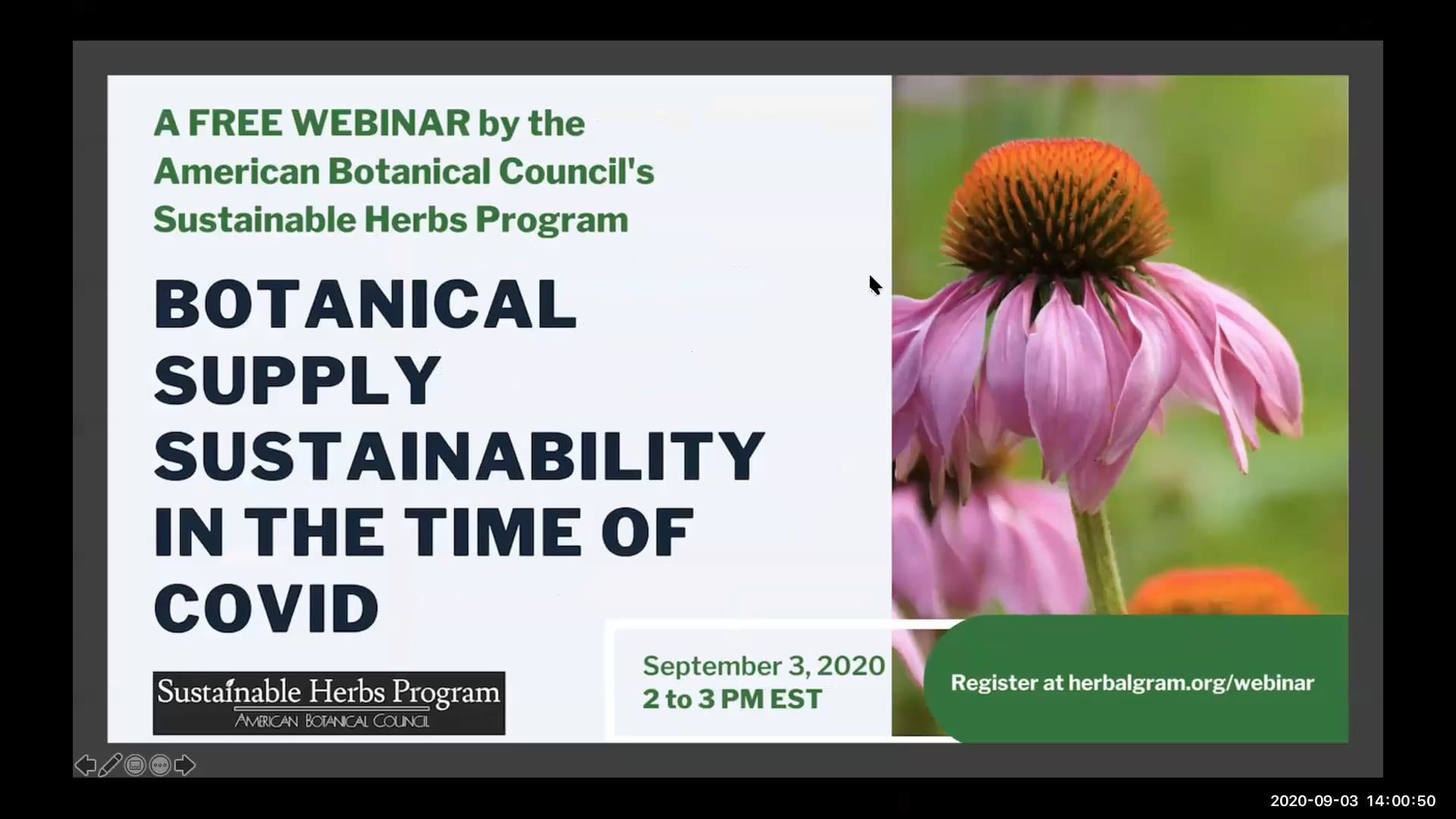 Botanical Supply Sustainability in the Time of COVID